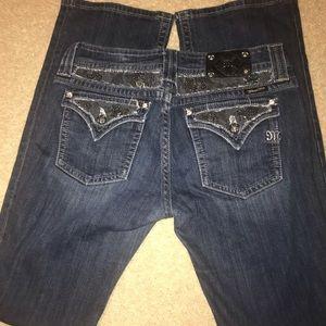 """Miss Me 33 x 37"""" Sparkle Jeans"""
